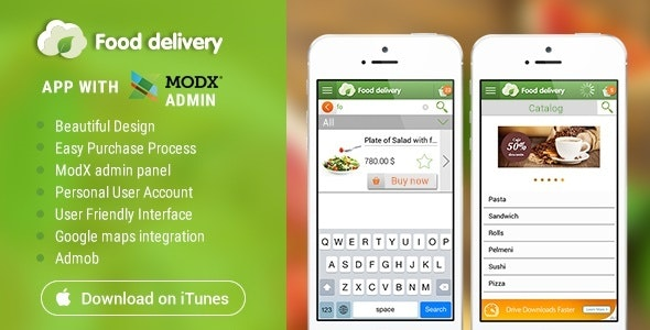 Food Delivery iOS with MODx CMS - CodeCanyon Item for Sale