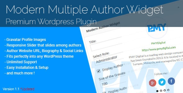 Modern Multiple Author Widget - CodeCanyon Item for Sale