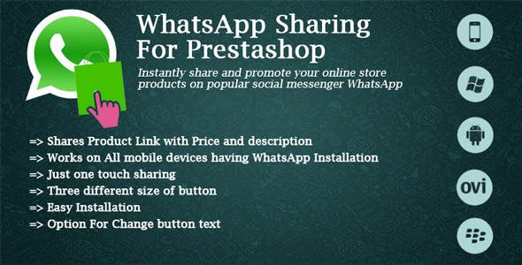 WhatsApp Sharing For Prestashop