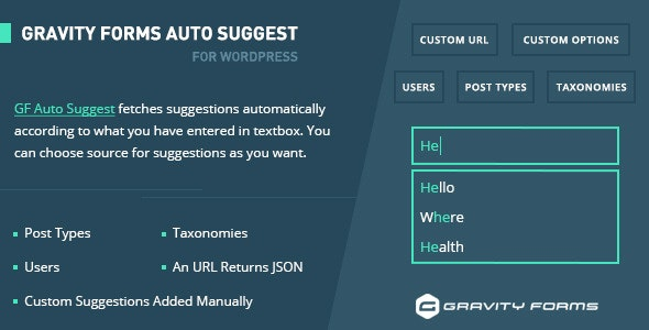 Gravity Forms Auto Suggest - CodeCanyon Item for Sale