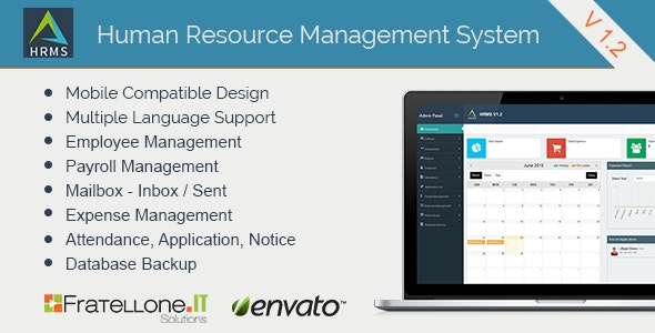 Human Resource Management System (HRMS) V 1.2 - CodeCanyon Item for Sale