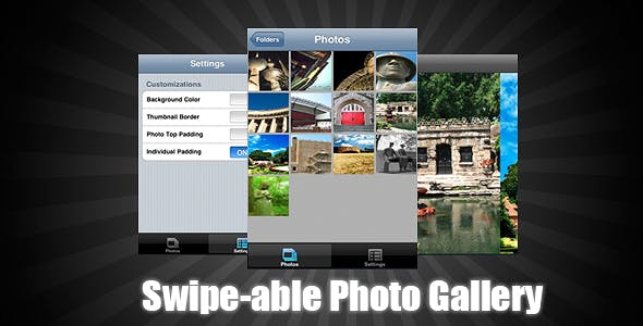 Swipe-able Photo Gallery