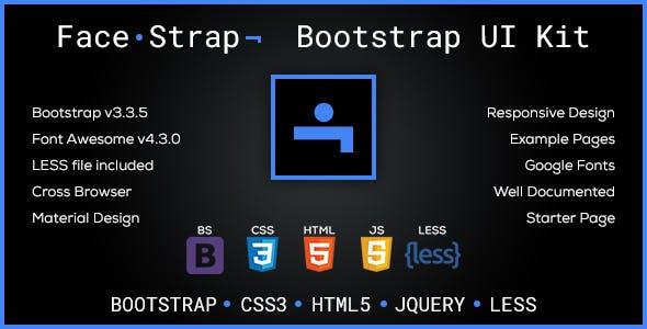 FaceStrap - Bootstrap Skin & UI Kit
