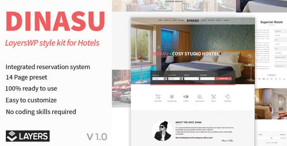 Dinasu – LayersWP Style Kit for Hotels