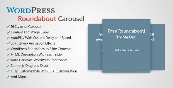Roundabout - WordPress Carousel Slider Plugin - CodeCanyon Item for Sale