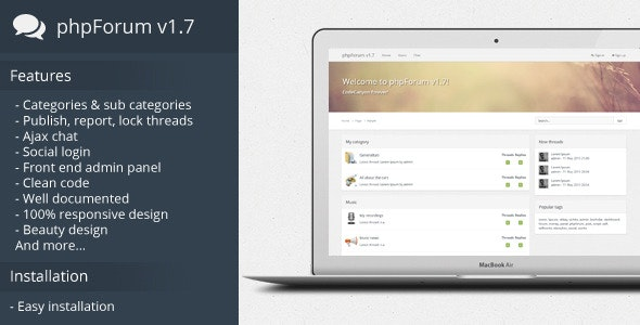 phpForum v1.7 - Social forum script. - CodeCanyon Item for Sale