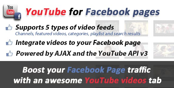 YouTube videos for Facebook Pages Tabs