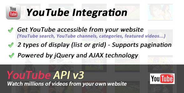 YouTube API Ultimate Integration by yougapi | CodeCanyon