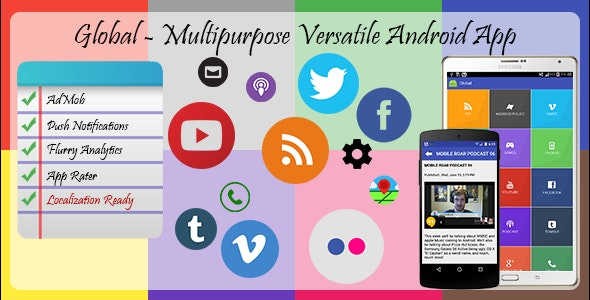 Global - Versatile Multi purpose Android App - CodeCanyon Item for Sale
