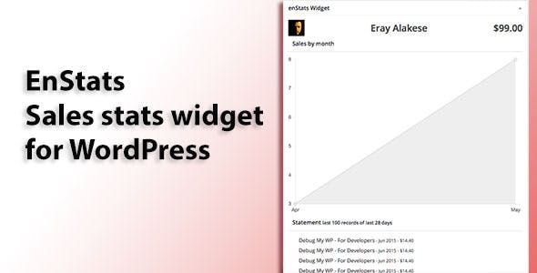 enStats Dashboard Widget for Envato Authors