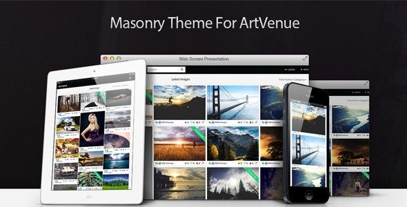Masonry Theme For ArtVenue - CodeCanyon Item for Sale