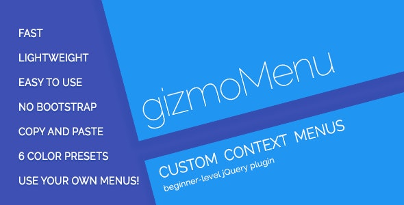 gizmoMenu - Customizable Context Menus - CodeCanyon Item for Sale