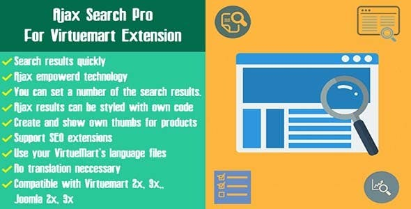Ajax Search Pro For Virtuemart Extension