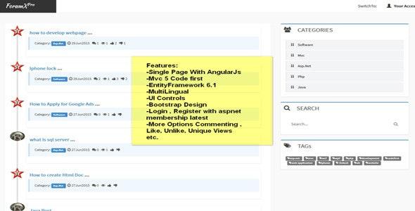 ForumX - (Mvc 5 Forum Application) Open source by MrSonu
