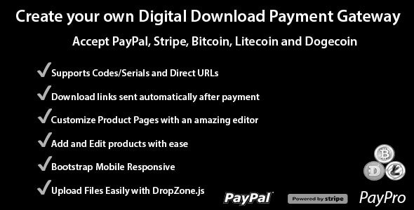 PayPro - Your Own Digital Download Payment Gateway - CodeCanyon Item for Sale