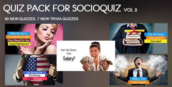 50 Quiz Pack for SocioQuiz Vol 2
