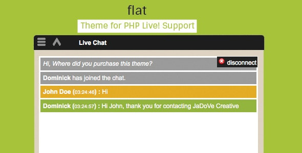 Flat // Theme for PHP Live! Support - CodeCanyon Item for Sale