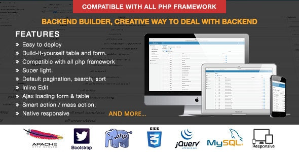 Backend Builder - DIY CMS - CodeCanyon Item for Sale