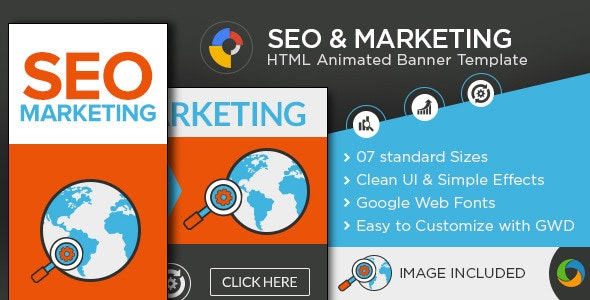 SEO & Marketing HTML 5 Banners - CodeCanyon Item for Sale