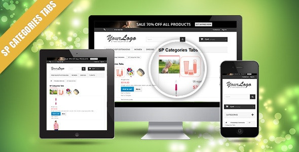 SP Category Tabs - Responsive Prestashop Module - CodeCanyon Item for Sale