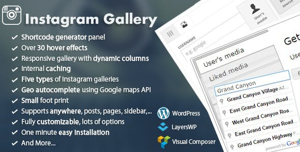 WordPress Responsive Instagram Gallery