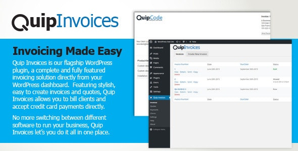Quip Invoices - Fully Featured WordPress Invoicing - CodeCanyon Item for Sale