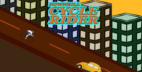 Downhill Cycle Rider Admob+Leaderboard+IAP