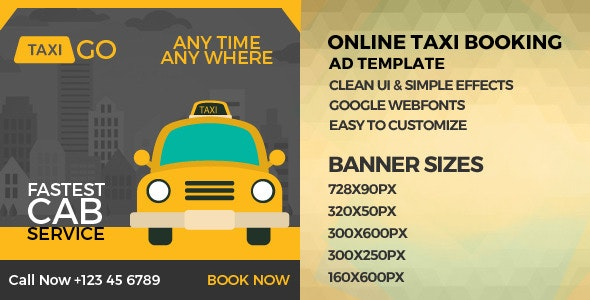 Cab Booking -  GWD Ad Banners - CodeCanyon Item for Sale