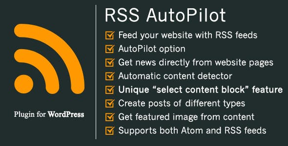RSS AutoPilot - unique content extractor