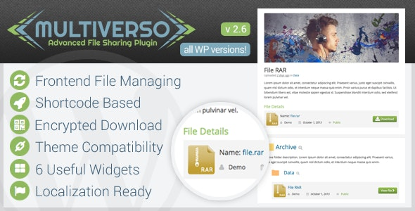 Multiverso - Advanced File Sharing Plugin - CodeCanyon Item for Sale