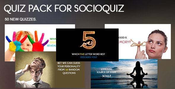50 Quiz Pack for SocioQuiz - CodeCanyon Item for Sale