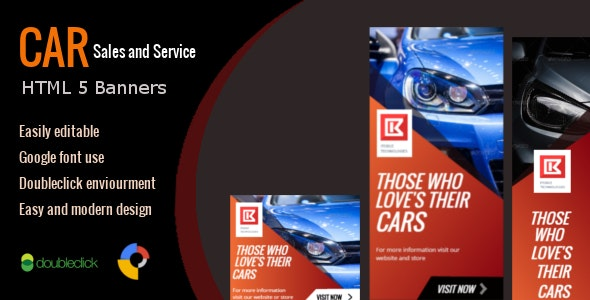 Car Sales and Service - HTML Animated Banner 01 - CodeCanyon Item for Sale