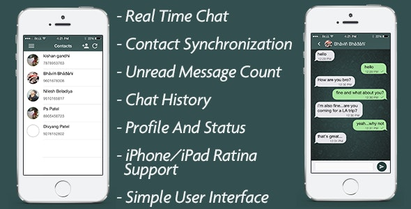 iChat Real time chat in iOS [ SWIFT ] - CodeCanyon Item for Sale