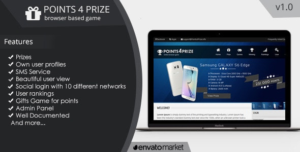 Points4Prize v1.0 - Create your own browser game - CodeCanyon Item for Sale
