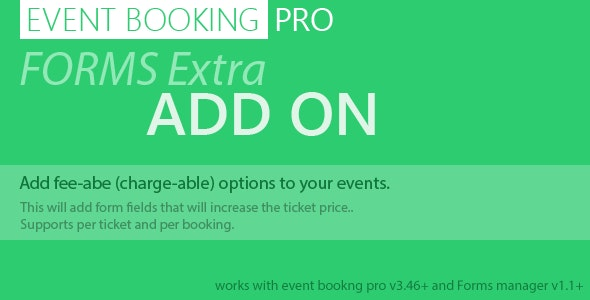 Event Booking Pro: Forms Extra Add on - CodeCanyon Item for Sale