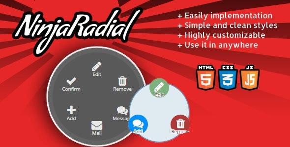 NinjaRadial - clean radial jquery menu  - CodeCanyon Item for Sale