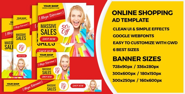 Shopping - HTML5 GWD Ad Banners - CodeCanyon Item for Sale