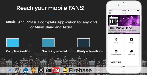 Music Band Ionic 3 - Full Application - CodeCanyon Item for Sale