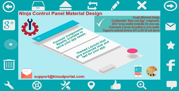 Android Material Design Template with Mobile App components for Graphs, Reports and Analytics - CodeCanyon Item for Sale