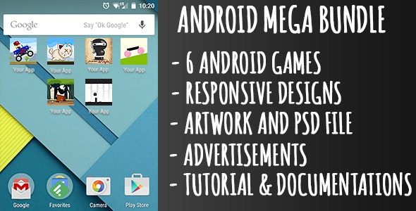 Android Game Mega Bundle - 6 Games - CodeCanyon Item for Sale