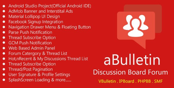 Android Discussion Forum App - aBulletin