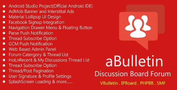 Android Discussion Forum App - aBulletin by conq24 | CodeCanyon