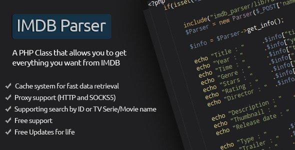 IMDB Parser by xd4rker | CodeCanyon