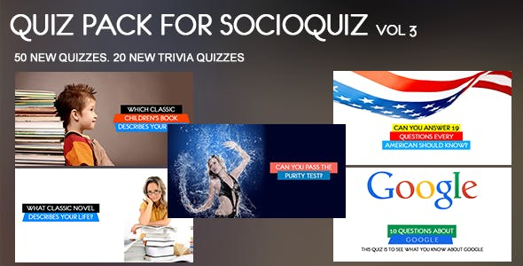 50 Quiz Pack for SocioQuiz Vol 3
