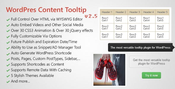 WordPress Hover Image & Content Tooltip Plugin        Nulled