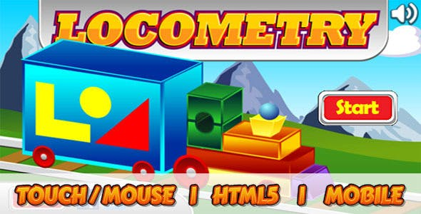 Shape Game for Kids - Locometry - HTML5 Educational Game