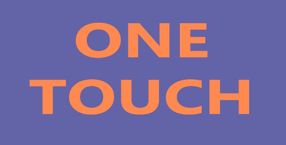 One Touch - CodeCanyon Item for Sale