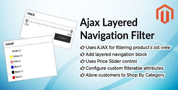Ajax Layered Navigation Filter Magento Extension