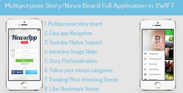 MultiPurpose News/Story/Portfolio for iOS in SWIFT
