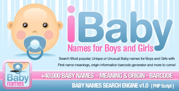 Baby Names Search Engine by vidal | CodeCanyon